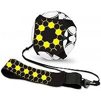 Lazz1on Fútbol Trainer Banda, Voleibol, Rugby Kick Throw Trainer Solo Practice Training Cinturón Ajustable para niños Adultos
