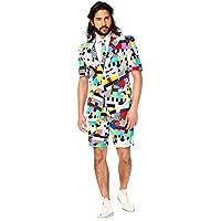 Breve Opposuit Suit 3 parti: giacca, pantaloni e cravatta, abito estivo, pantaloni corti