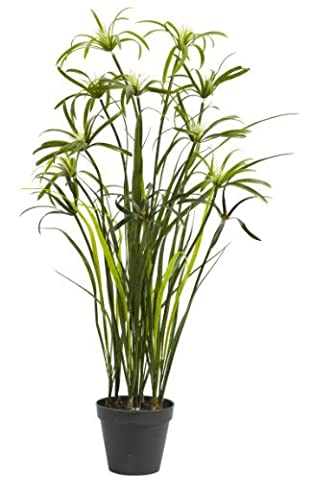 Nearly Natural 4763 Papyrus Decorative Silk Plant, 3-Feet, Green by Nearly Natural