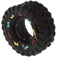 Komener Juguetes de Goma para Mascotas, Juguete con Forma de neumático con un chirriador en él, Juguetes para Perros y Gatos