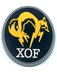 XOF Foxhound Negro Metal Gear Solid PVC Airsoft Velcro Patch