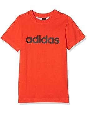 adidas Yb Lin tee Camiseta, Niños, Rojo/Negro (Rojo), 152 (11/12 Años)