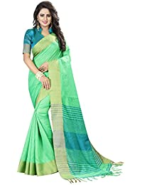 Vatsla Enterprise Women's Cotton Saree With Blouse Piece(VPYSHCAT2PARROTSAREE)