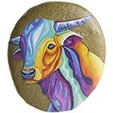 Stier | Hand-bemalter Stein zum