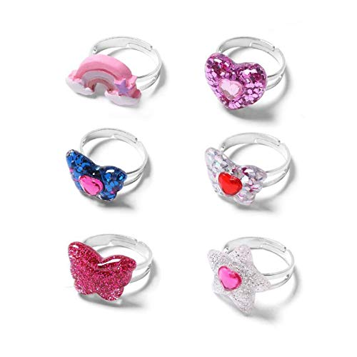 Children's Butterfly Ring – Toddler Rainbow Ring – Adjustable Little Girls Jewelry Set
