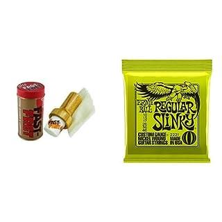 ghs Fast Fret String Cleaner + Ernie Ball Gitarrensaiten 010-046 Bundle