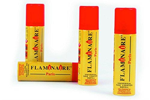 12 X Bomboletta Flaminaire 300 Ml Gas Ricarica Accendini Butano Con Adattatori