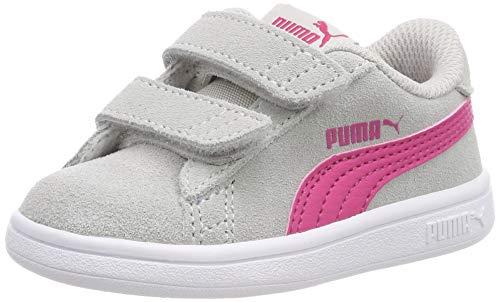 PUMA Unisex Baby Smash v2 SD V Inf Sneaker, Grau (Gray Violet-Beetroot Purple 12), 23 EU
