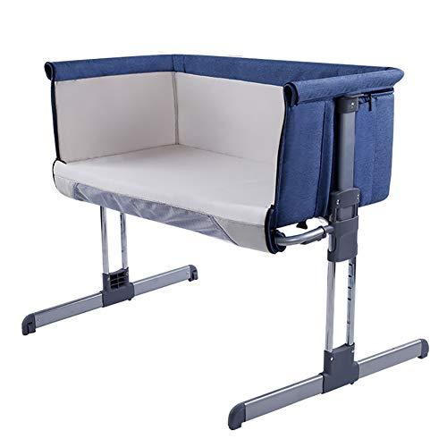 WYVA 3in1 Baby Beistellbett Reisebett Babybett mit Matratze, höhenverstellbar, mit Schaukelfunktion und stabilem Alu Rahmen (zusammenklappbar)
