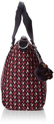 Kipling Amiel, Women's Cross-body Bag, Multicolour (Pink Chevron), 15x24x45 Cm (W X H X L)