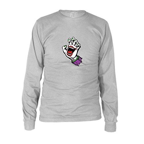 Joking Hand - Herren Langarm T-Shirt, Größe: XXL, Farbe: weiß
