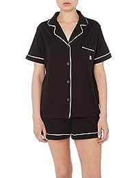 DKNY Signature YI2913310 Short Sleeve PJ Top Bottoms Shorts Boxer Set Pyjamas