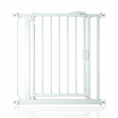 Safetots Selbstschließend Baby Sicherheit Treppengitter Weiß mit Erweiterungen, Breiten von 75cm – 161,2cm (103.8cm – 110.8cm) - 2
