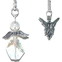 Beautiful facettiert Quarz Angel Aura Schutzengel-Charm Kristall Pendel–Krone Chakra preisvergleich bei billige-tabletten.eu