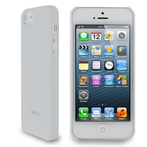 RooCASE mat shell coque ultra slim pour apple iPhone 5/5S Matte White