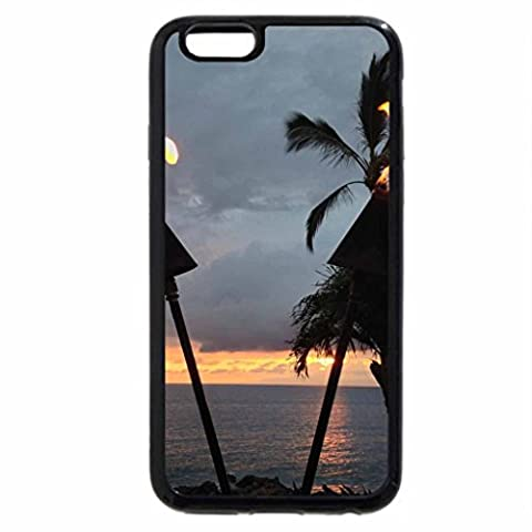 iPhone 6S Plus Coque, iPhone 6 Plus Coque, Torches Tiki Soirée Crépuscule Temps à Waimea Hawaïen Maui Hawaii
