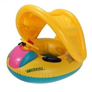 De haute qualité réglable Parasol bébé de natation flotteur Seat Bateau Bouée gonflable