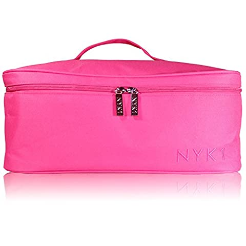 *NEW* NYK1 PINK or BLACK Gel Nail Case Bag for Nail Technician or Therapist Vanity Case - Professional Beautician Storage Carry Case for Nail Lamp, Gel Nails and Cosmetics by NYK1
