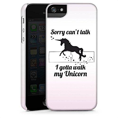Apple iPhone X Silikon Hülle Case Schutzhülle Einhorn Unicorn Sprüche Premium Case StandUp