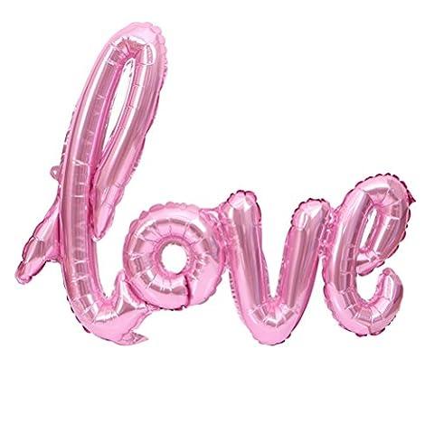 NUOLUX Love Balloon ,Pink Foil Balloon Wedding Party Decoration