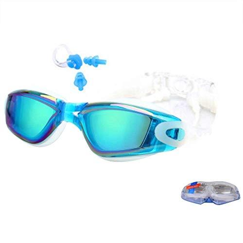 Breay1986 Brillen mit verbundenen Ohrstöpseln sind mit Einer beschlagfreien Schutzbrille mit großem Gestell und UV-Schutzbrille ausgestattet (Color : Blue)