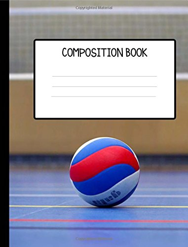 Volleyball College Ruled Composition Book