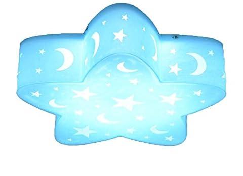 Enfants Lampe Chambre lampe étoiles DIMM Bar Bleu avec télécommande jeunes Chambre d'enfant plafonnier LED Leuchten Plafonnier Plafonnier lumière éclairage interne pour la chambre 50cm 36cm