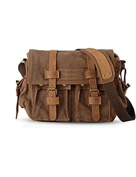 FANDARE Neu Retro Messenger Bag Umhängetasche Schultertasche 14 Zoll Laptoprucksäcke Herren Frauen Tasche Kuriertasche...