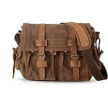 FANDARE Nuevo Bolsa Mensajero Messenger Bag Crossbody Bolso Bandolera Shoulder Bag 14 Pulgadas Portátil Estudiante Viaje Trabajo Escuela Las Mujeres Hombre Bolso Lona