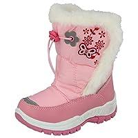 Girls Pineapple Chill Snow Boots Waterproof PVC Wellington Ski Thermal Wellies Fur Winter Boots Size 10-5 Kids (UK 12 Kids/EU 30, Lt Pink)