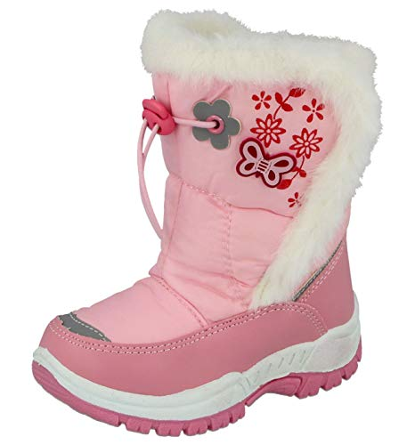 Girls Pineapple Chill Snow Boots Waterproof PVC Wellington Ski Thermal Wellies Fur Winter Boots Size 10-5 Kids