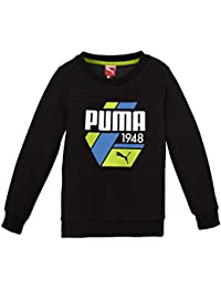 Puma Sweatshirt TD Crew Sweat Fleece - Sudadera con capucha para niño, color negro,