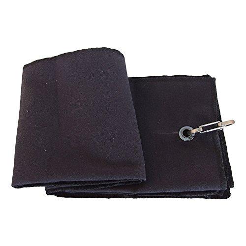 Portable Tri-plis Douce Serviette de Golf 40 * 65cm Noir