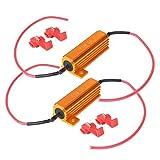 #3: 2pcs 50W 8Ohm LED Load Resistor for LED License Plate Lights Error Fix