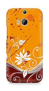 Amez designer printed 3d premium high quality back case cover for HTC One M8 (Abstract )