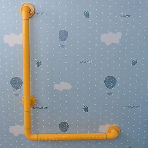 KHSKXLibre de Barreras rieles en forma de l, ancianos discapacitados Baño Baño seguridad antideslizante pasamanos acero inoxidable 90 Grado 50+70CM,UN