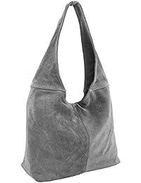 Ledertasche Beuteltasche Lederhandtasche Wildleder Handtaschen Leder Tasche Schultertasche Damenhandtasche Shopper Damen