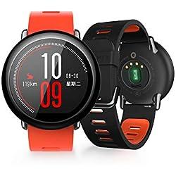 Xiaomi Amazfit Pace, Relojes Inteligentes Xiaomi Amazfit, Relojes Deportivos con GPS Bluetooth Reloj Inteligente Pantalla Táctil Monitor de Ritmo Cardíaco IP67 a Prueba de Agua Versión en inglés Rojo
