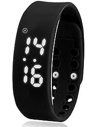 modiwen USB podómetro pulsera inteligente electrónica movimiento reloj deportivo digital LED de color brillante