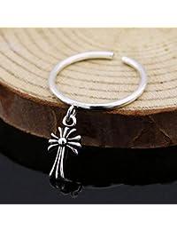 Axiba Uomini Anello Anelli Anello di Apertura Signore Anello Croce Minimalista-dallo a Qualcuno Che ami