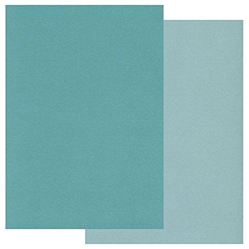 Coloured pergamena confezione da due toni a5x 20blu