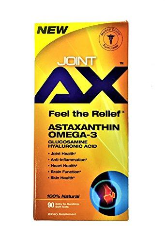 Pure Polar Omega3 Joint AX das weltweit erste Astaxanthin Shrimp Öl mit ca. 10x mehr Power als Krill Öl plus Phospholipide Glukosamin Hyalurounsäure