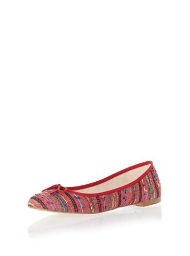 Jonny's Vegan Damen Schuhe Ballerina Peruvian Stone AK1414 rot (red) (43) - 4