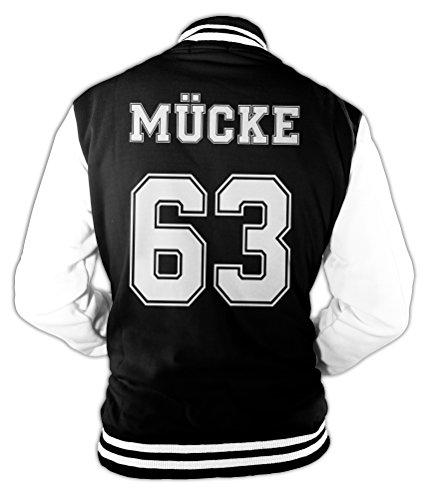 Herren College Jacke Mücke Buddy Movie Star Film , 63 Baseballjacke (Männer Western-hemden Für Retro)