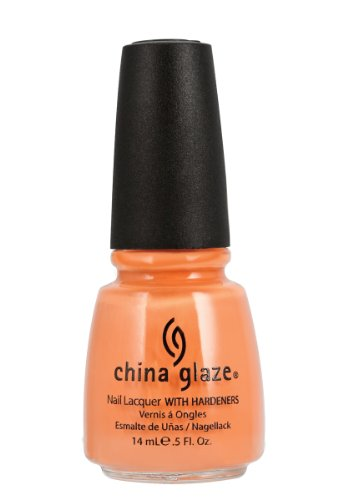China Glaze Nail Lacquer with Hardner - Lacquered Effect - peachy Keen, 1er Pack (1 x 14 ml)