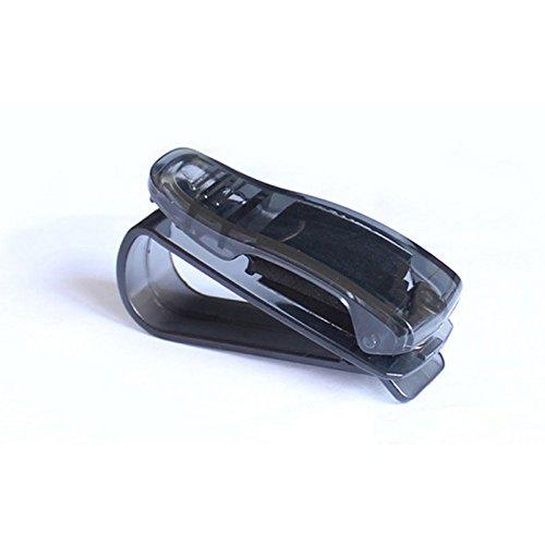 1Stück universal Auto Sonnenbrille Clip Halterung Auto Fahrzeug Sonnenblende Clip für Sonnenbrille Brille Brille Karte Stifthalter 6,8x 3,8cm, schwarz, As shown in Pic