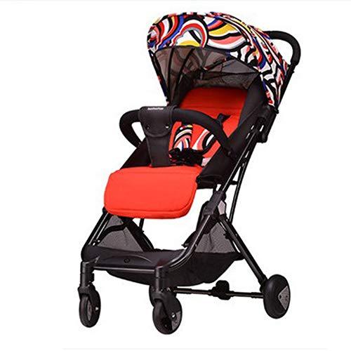 GWJ Baby Stroller Falten Pushchair Leichtgewicht Baby Travel Buggy kann in der Plane Sein,Red