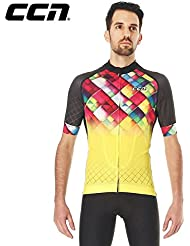CCN JSS047 Short Sleeve Cycling Men's Jersey, Ex-Cool Fabric, Super Cool , Pro Cutting for Professional Biker