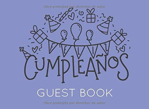 Feliz Cumpleaños: Libro de Visitas o Firmas para Fiesta o Celebración de Cumpleaños
