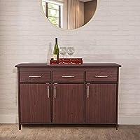 HomeTown Albert Engineered Wood Multipurpose Cabinet in Cherry Brown Colour